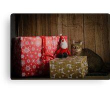 Furry Little Christmas Canvas Print