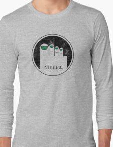 Minimalist Nihilist Long Sleeve T-Shirt