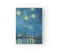 The Brushstrokes of Vincent Van Gogh - Starry Night on the Rhone Hardcover Journal