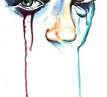 TearDrop/ORIGINAL PAINTING by Amit Grubstein by AmitArt