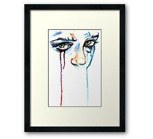 TearDrop/ORIGINAL PAINTING by Amit Grubstein Framed Print