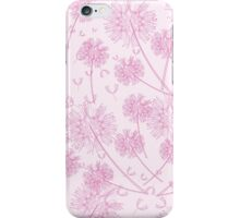 Pink Dandelion Background iPhone Case/Skin