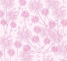 Pink Dandelion Background by roughcollie5