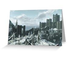 Skyrim Winterhold Greeting Card