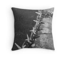 Medieval Portcullis Chain. Throw Pillow
