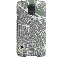 Amsterdam city map enggraving Samsung Galaxy Case/Skin