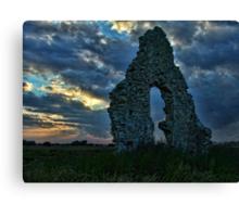 Midley Church Ruins at Sunset Canvas Print