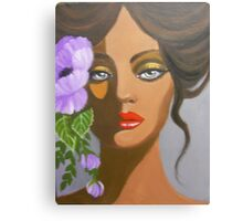 A LAVENDER FLOWER IN HER HAIR Canvas Print