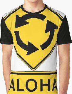 Aloha Circle Sign Design Graphic T-Shirt