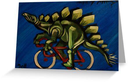 Stegosaurus on a Bicycle by Ellen Marcus