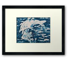 Ocean Battle Framed Print