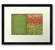 Dulce et decorum est Pro patria mori. Poem Greeting Card Framed Print