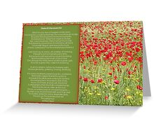 Dulce et decorum est Pro patria mori. Poem Greeting Card Greeting Card