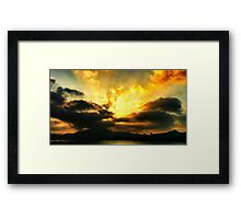Setting fire Framed Print
