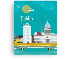 Dublin, Ireland - Skyline Illustration by Loose Petals Canvas Print