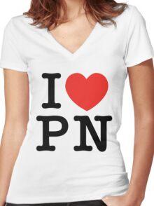 I Love Panem (for light tee's) Women's Fitted V-Neck T-Shirt