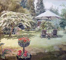 Artist's Garden in the Summer by Joyce Grubb