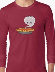 Sad Pumpkin | Cute Pumpkin Ghost  Long Sleeve T-Shirt