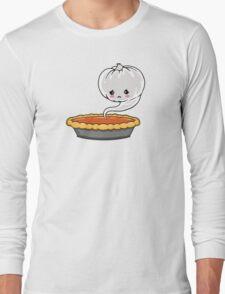 Sad Pumpkin   Cute Pumpkin Ghost  Long Sleeve T-Shirt