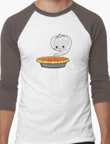 Sad Pumpkin | Cute Pumpkin Ghost  Men's Baseball ¾ T-Shirt