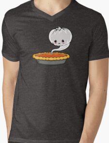 Sad Pumpkin   Cute Pumpkin Ghost  Mens V-Neck T-Shirt