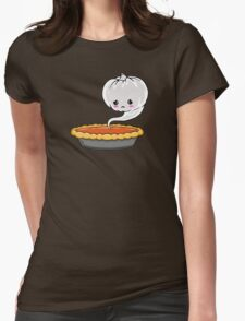 Sad Pumpkin | Cute Pumpkin Ghost  Womens Fitted T-Shirt