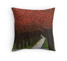 The Cross Roads Of Life  Throw Pillow