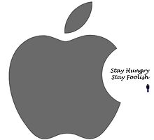 Steve Jobs- Stay Hungry Stay Foolish by Trilbycole