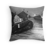 Living By The Water B&W Throw Pillow