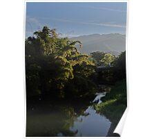 River Cuale in the morning light - Rio Cuale en la luz de la mañana Poster