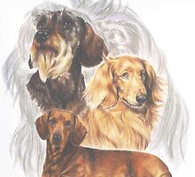 Dachshund with Ghost 2 by BarbBarcikKeith