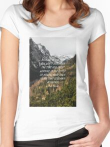 Climb that goddamn mountain Women's Fitted Scoop T-Shirt