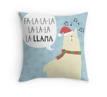 Fa La La La Llama - Christmas  Throw Pillow