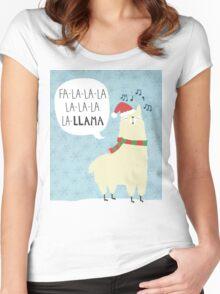 Fa La La La Llama - Christmas  Women's Fitted Scoop T-Shirt