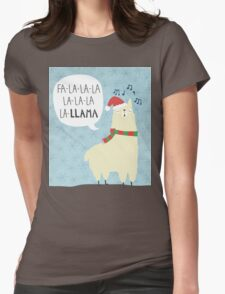 Fa La La La Llama - Christmas  Womens Fitted T-Shirt