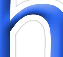 h Blue - Google Font Sticker