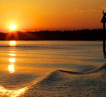 Spring Equinox Sunset on Broad Creek by jimcrotty