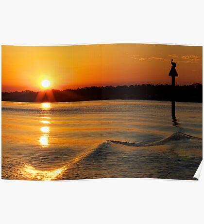 Spring Equinox Sunset on Broad Creek Poster