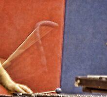 Striking a chord (xylophone) by vigor