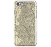 The Great Smoky Mountains National Park Map (1935) iPhone Case/Skin