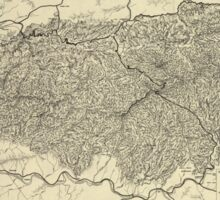 The Great Smoky Mountains National Park Map (1935) Sticker