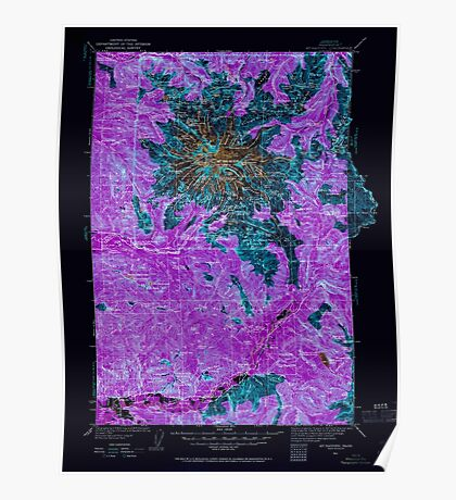USGS Topo Map Washington State WA Mt Rainier 242665 1924 125000 Inverted Poster