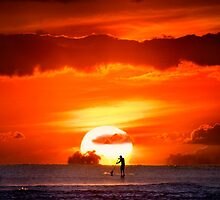 Sunset Paddler by Alex Preiss