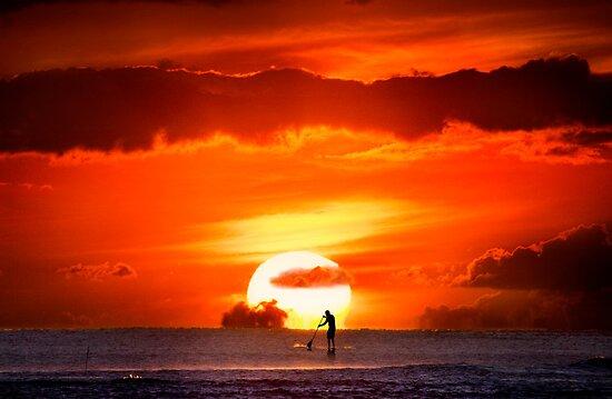 Sunset Paddler by Alex Preiss