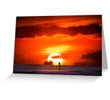 Sunset Paddler Greeting Card