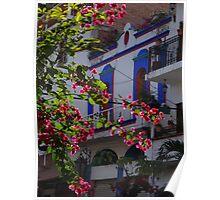 Impressions - Streets Of Puerto Vallarta II / Impresiónes - Calles De Puerto Vallarta Poster
