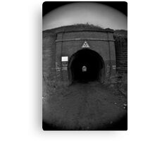 Abandoned chemical plant Tunnel Canvas Print