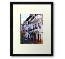 Impressions - Streets Of Puerto Vallarta IV / Impresiónes - Calles De Puerto Vallarta Framed Print