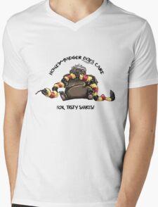 Honey-Badger DOES care! Mens V-Neck T-Shirt