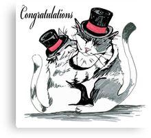 Congratulations My Friend Canvas Print